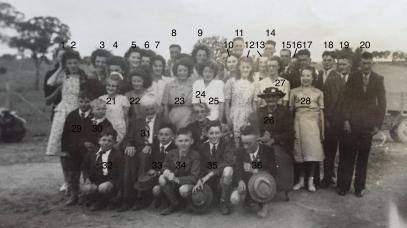 James Noakes (#31), Emma Noakes nee Brown (#24) with grandchildren.