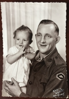 Fred Alchin holding son Donald (1943)